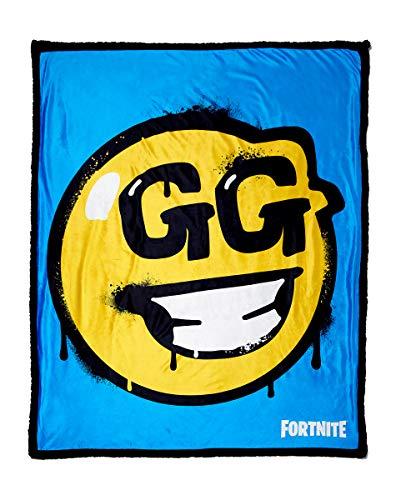 Fortnite GG Smiley Face Sherpa Fleece Blanket