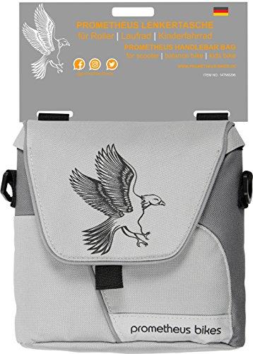 PROMETHEUS Lenkertasche für Kinderfahrrad Lenkradtasche mit separatem Tragegurt für Kinderfahrzeuge | Reflektor Sicherheits Lenkrad Tasche mit 3 Riemen Sicherung | für Fahrrad | Laufrad | Edition 2019