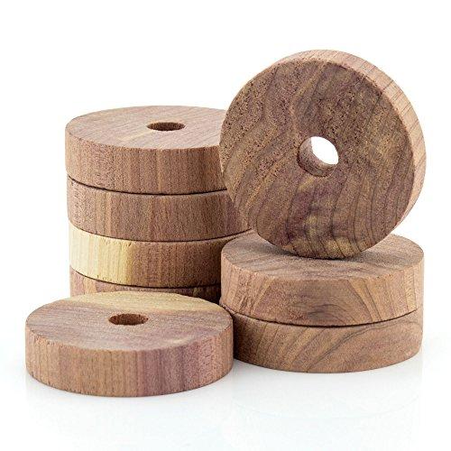 12 unidades Bloques antipolillas de madera de cedro para colgar en armarios Hangerworld
