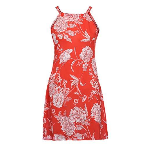feiXIANG Frauen ärmellose Kleid Basic rückenfreies Beachwear im Sommer (M, Grau)