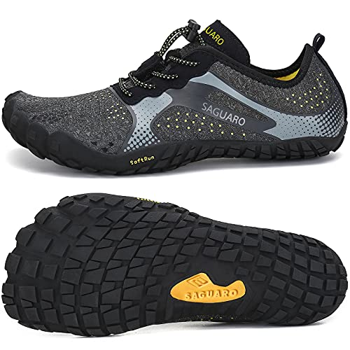 Mens Womens Barefoot Gym Walking Trail Running Shoes Beach Hiking Wide Toe Box Water Shoes Aqua Sports Pool Surf Waterfall Climbing Quick Dry Black