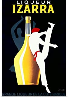 GREATBIGCANVAS Poster Print Entitled Liqueur Izarra, Vintage Poster, by Paul Colin by 12