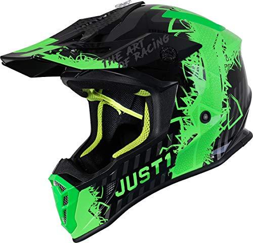Just1 J38 Mask Casco motocross Verde/Nero L (59/60)