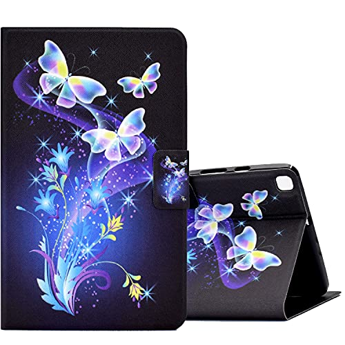ONETHEFULCustodiaLibroCoverperSamsung Galaxy Tab A 8.0  2019 T290 T295TabletCustodieProtettivaCoversconStandePUPelle-fiore di farfalla