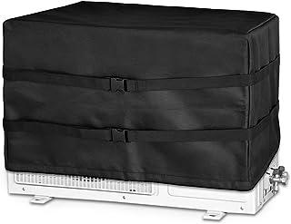 Cizen Cubierta Exterior de Aire Acondicionado, Funda para Aire Acondicionado, Doble Capa Aire Acondicionado del Cubierta Exterior Protectora Impermeable A Prueba de Polvo(Negro,53.3 * 35.5 * 35.5cm)