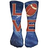 Bigtige Chaussettes Compression Classics Love Rugby Galaxy à Personnaliser Sport Athlétique 50cm Longues Chaussettes Crew pour Hommes Femmes