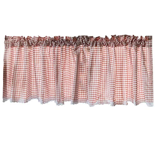 Küche Halber Vorhänge,spitze/kleiner Vorhang,cafe vorhang,staubdicht/kurze vorhang,Rosa Gitter/handgemachte natürliche/halben vorhang,Bistrogardine,Schranktür/Badezimmerfenster/Scheibengardine,1pcs