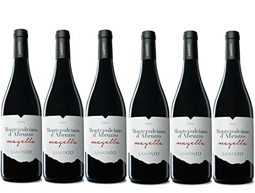 Vino Rosso Montepulciano d Abruzzo D.O.C. 2019 Cantine LAMPATO  Colline Pescaresi - Abruzzo - Italy - Box da 6 Bottiglie da 0,75 lt.