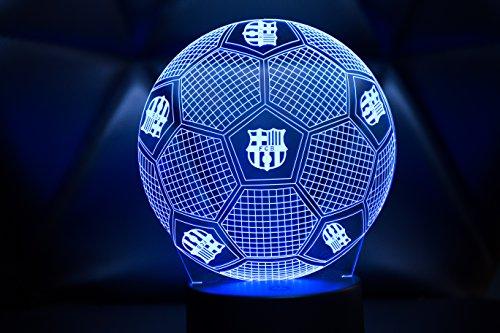 3D LAMPARAS Oficial Balon del FC Barcelona Lámpara 2019-2020 Pelota de Barça para Bebe niño Kids Hombre Mujer Mejor Decoracion