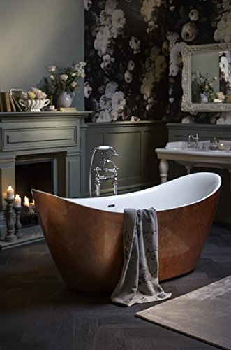 Casa Padrino Art Deco Badewanne freistehend Kupfereffekt Modell He-Hyl 1730mm - Freistehende Retro Antik Jugendstil Badewanne