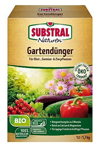 Substral Naturen BIO Garten, Universal, natürlicher Volldünger für Obst- Gemüse und Zierpflanzen, 1,7 kg