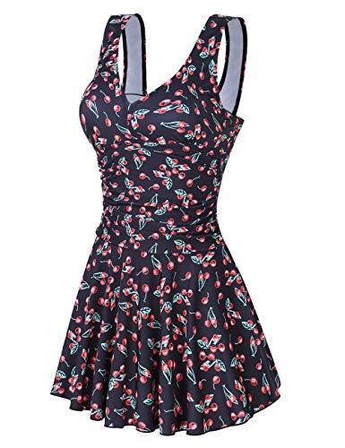 Clearlove Badeanzug Damen Push up Bademode Schwimmanzug Bauchweg Farbverlauf Figurformenden Effekten Rückenfrei Bandeau S-XL