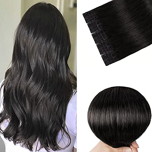Tape in Remy Hair Extensions 1B Nat…
