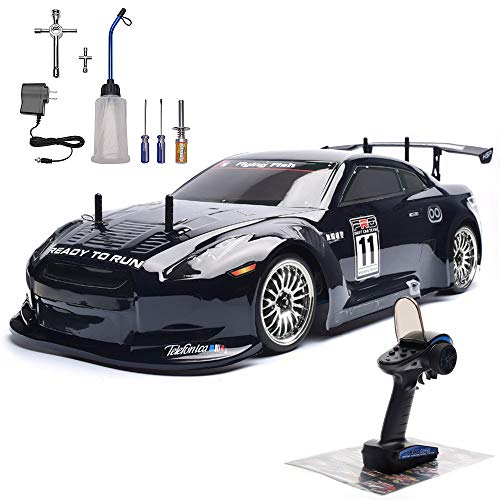 HSP 4wd RC Car 1:10 On Road Touring Drift Two Speed Nitro Power Vehicle, Black
