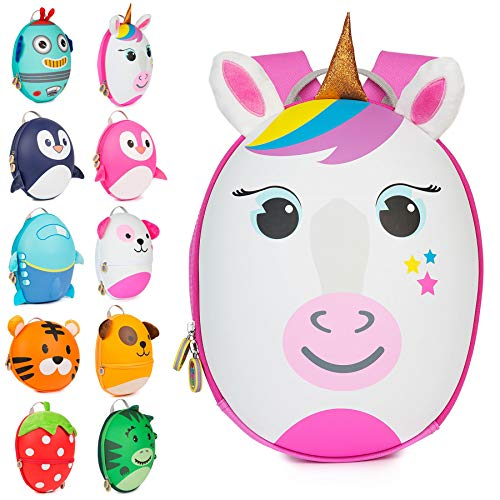 boppi Tiny Trekker Mochila Infantil De Viaje para Vacaciones - 4 litros - Unicornio