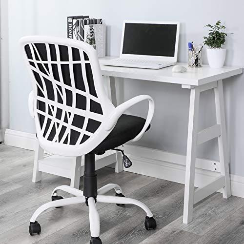 Silla de oficina de tela moderna de Homy Casa, ergonómica, de malla con ruedas de 360 grados ajustables y de altura para el hogar, la oficin