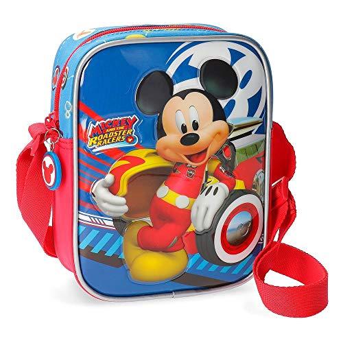 Disney World Mickey Borsa Messenger 20 centimeters 1.8 Multicolore (Multicolor)