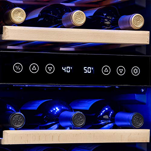 NewAir AWR-290DB Wine Cooler, 29 Bottle, Stainless Steel