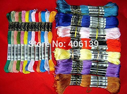 Purchase Xuccus 50pieces 8meter Cotton Cross Thread/Cross Stitch/Cross Stitch Embroidery Thread/Hand...