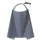 TININNA Enfermería Cubierta 100% algodón Tapa de la Lactancia Materna Capa de Lactancia Delantal enfermería Regalo para Las Nuevas mamás Azul Cereza-Azul Profundo