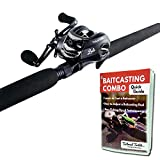 Tailored Tackle Bass Fishing Baitcasting Combo 7 Ft 2 -Piece | Casting Rods Power: Med. Heavy Fast Action | 7 BB...