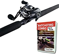 Tailored Tackle Bass Fishing Baitcasting Combo 7 Ft 2 -Piece   Casting Rods Power: Med. Heavy Fast Action   7 BB Baitcast Reels Gear Ratio - 6.3:1   Baitcaster Pole (Right Handed Baitcaster)
