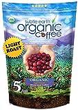 5LB Subtle Earth Organic Coffee - Light Roast - Whole Bean - Organic Arabica...