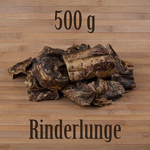 500g Rinderlunge fettarm Leckerli Hundefutter Kausnack Kauartikel Rinder Lunge