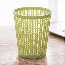 Recycling Bin Trash Can Without Lid Desktop Plastic Dustbin Mini Garbage Paper Basket for Living Room Bedroom Office Dormi...