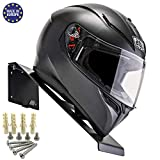 BESTUNT Helmet Display | Mount for Motorcycle Holder Shelf Rack Storage Fixation | Mount on Wall (black)