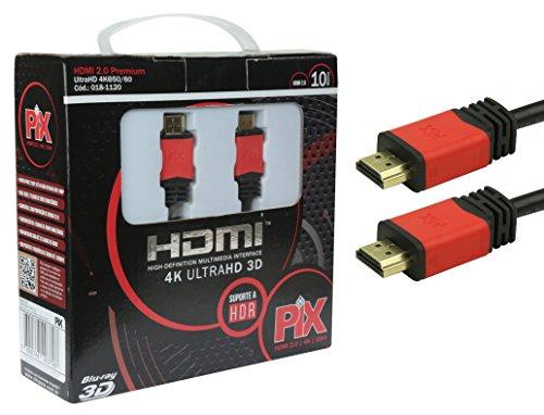 Cabo Hdmi 2.0 4K Hdr 19P 10M Pix Premium, Preto