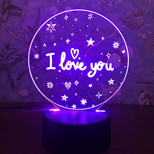Valentine's Day Gift 3D Lamp LED Night Light 7 Colours Table Lamp Deco Lamp Touch Sensor Luminarias Lights