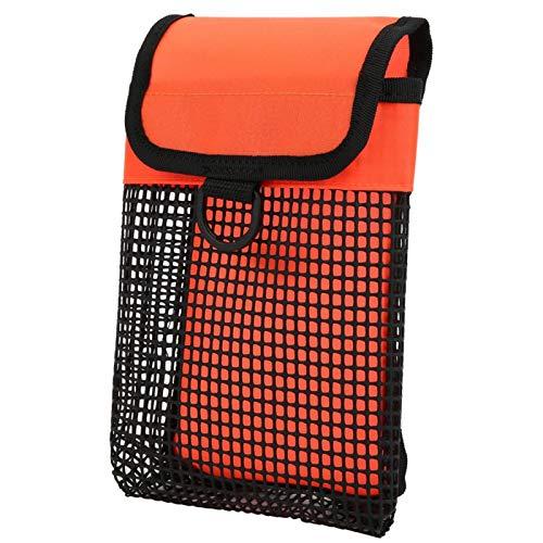 Qqmora Bolsa de Almacenamiento de Buceo Resistente de Alta confiabilidad BG-984 Scuba, para Buceo(Fluorescent Orange)