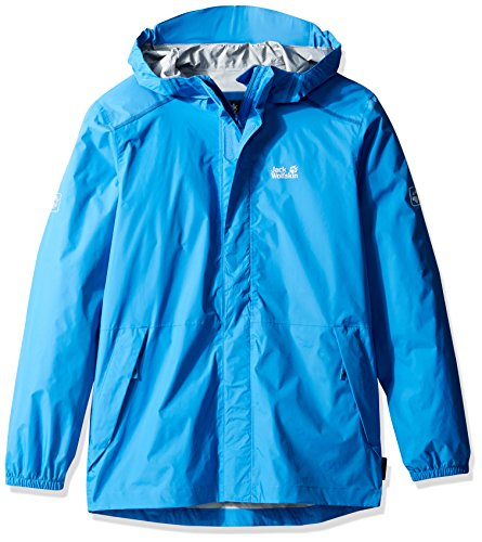 Jack Wolfskin Kids Cloudburst Jackets, Unisex, 1606311, Wave Blue, Size 164 (13-14 Years Old) US