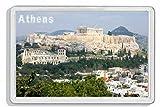 AWS Imán de PVC Duro Atenas Grecia Acrópolis Souvenir imán Fridge Magnet imán de nevera de plástico dura con imagen fotográfica Athens Greece Acropolis