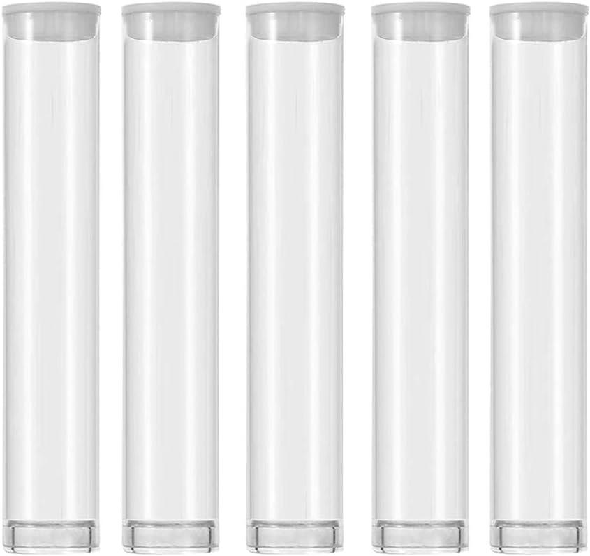 SKMZ Plastic Clear PVC Pipe Transparent Storage 0.5ML 1ML Tank E
