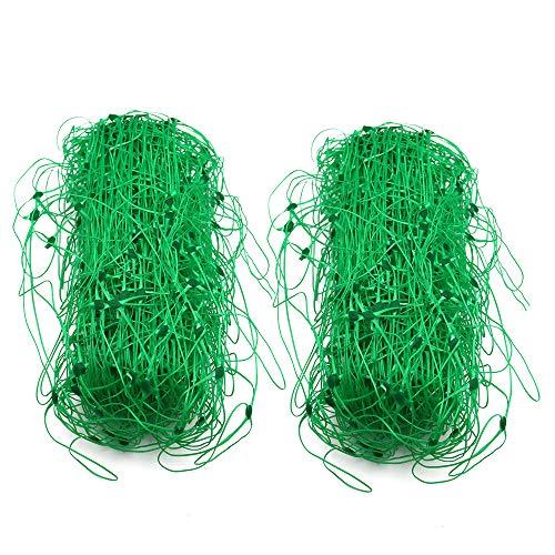 KINGLAKE 2 Stück 4 x 1,7 m Gartennetz Plastik-Spalier Netz Pflanzennetz Erbsennetz für Bohnenfrüchte Kletterpflanzen