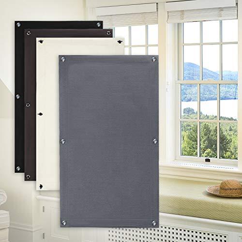 KINLO Dachfensterrollo mit Saugnäpfen Verdunklungsrollo ohne bohren verdunklung Dachfenster Rolle für Velux fenster 96*100cm Beschichtung Sonnenschutzrollo UV-Schutz Rollo Gardinen Fensterrollo grau