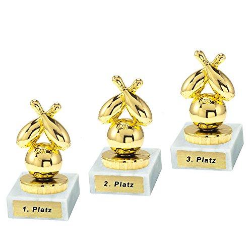 RaRu 3 Bowling-Pokale mit Ihrer Wunschgravur