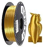 Noulei PLA 金属の光沢 3Dプリンターフィラメント 500g スプール 1.75mm (シルク金 Gold)