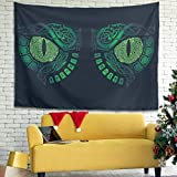 KASTLEE Vintage Green Norse Viking Odin Dragon Eye Crow Knot Tattoo Print Wall Hanging Tapestry Decor Cloth Tapestry Wall Art Magical Wall Decor Background Cloth Bedding White 40x59 inch
