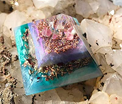 Orgone Pyramid/Goddess Healing Crystals Orgonite Pyramids/Violet Flame Orgone Pyramid EMF Protection by