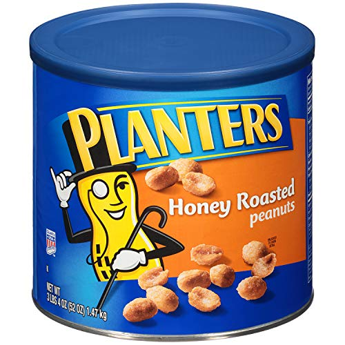 Planters Honey Roasted Peanuts, 52 oz Can (Pack of 2)