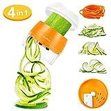 Handheld Spiralizer Vegetable Slicer 3 in 1 Spiralizer Grater Slicer for Vegetables, Spaghetti,...