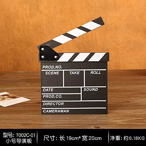 SQbjshaop Filmrequisiten, Clap Board, Direktion, Logboard, Holzprodukte, Ornament, Shop, Hochzeitsfotostudio, Fotografie und Fotografie, Trompetendirektorat 7002C-01
