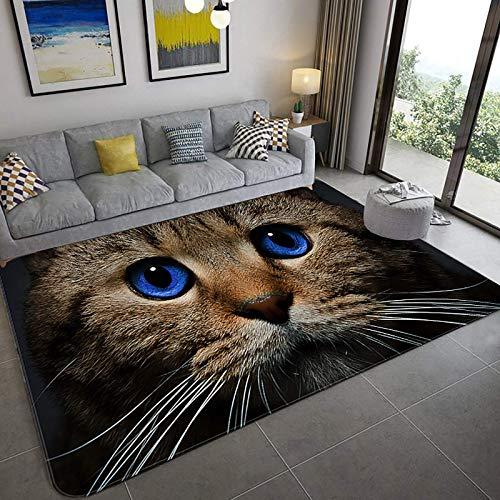 Modernes 3D-Druck Realistische Teppiche, 3D optische Illusionsbereiche 3D, weiche Teppich Wohnzimmer Schlafzimmer Non-Rutsch Runnerteppich Wohnkultur Türmatte-A 31x47inch (80x120 cm), H, 48x72inch (12
