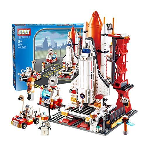 WFF Spielzeug Weltraumrakete und Launch Control Mars Expedition Set mit 679 Stück Assembly Spielzeug for 6 Jahre alt und Up Boy Rocket-Modell Geschenk (Color : 1 Piece)