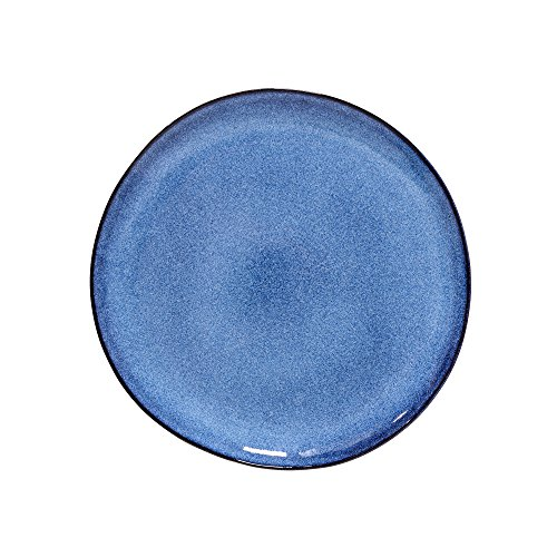 Bloomingville Teller Sandrine, blau, Keramik