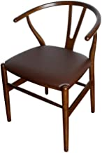 CJC Chair Amish Dining Ash Wood Side Chair, Weathered, Wishbone Style Woven Natural Woven Cord PU Seat (Color : T14)