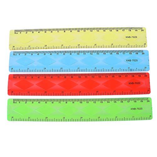 1 regla suave de 20 cm, multicolor flexible y creativo papelería regla de suministros escolares.